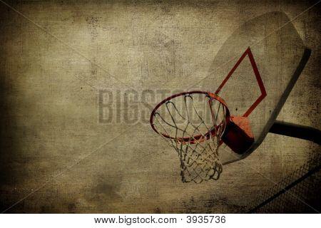 Basketball Sepia Grunge Background