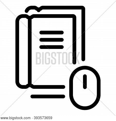 Online Materials Course Icon. Outline Online Materials Course Vector Icon For Web Design Isolated On