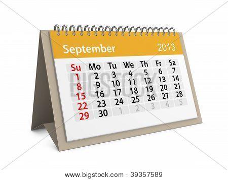 Monthly Calendar For New Year 2013. September