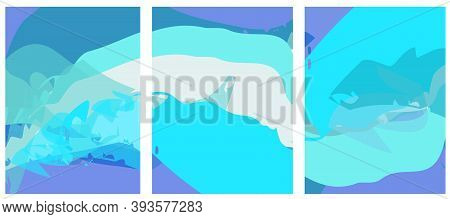 Creative Background In Pastel Shades  Editable  Vector Templates. Bright Colored With Hand Drawn