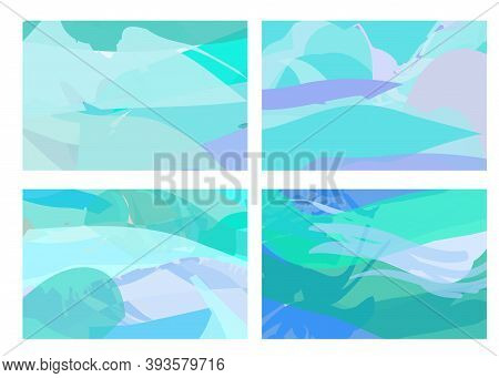 Creative Background In Pastel Shades Editable  Vector Templates. Bright Colored With Hand Drawn    B