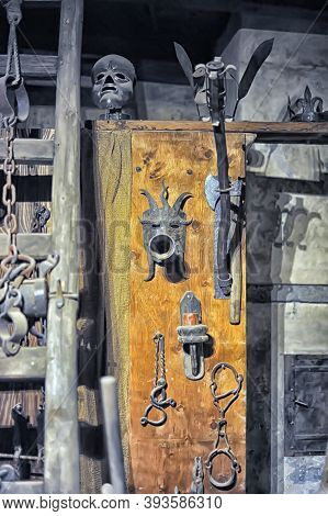 Czech Republic, Prague 27,03,2015 Museum Of Medieval Torture Instruments