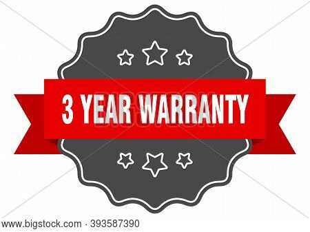 3 Year Warranty Red Label. 3 Year Warranty Isolated Seal. 3 Year Warranty