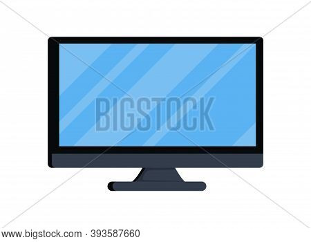 Computer Screen Isolated On A White Background Vector Illustration Design. Telecommunication Tv Scre
