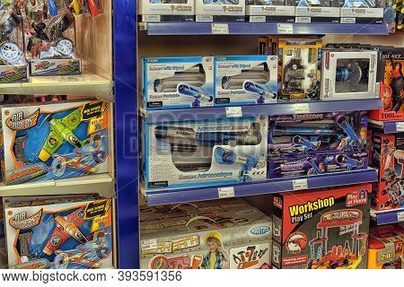 Czech Republic, Prague, 22,03,2015 Spy Tubes And Microscopes In The Store