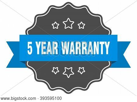 5 Year Warranty Blue Label. 5 Year Warranty Isolated Seal. 5 Year Warranty