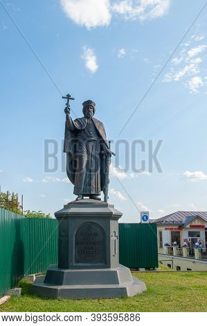 Vladimir, Russia-july 28, 2020: Monument To Saint Prince Vladimir-baptist Of Russia In Vladimir, Rus