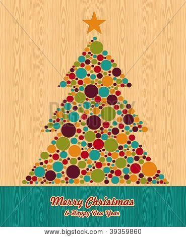 Abstract Christmas Tree Greeting Card