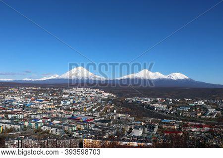 Petropavlovsk-kamchatsky, Kamchatka Territory. Hilly City View. Russia