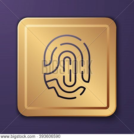 Purple Fingerprint Icon Isolated On Purple Background. Id App Icon. Identification Sign. Touch Id. G