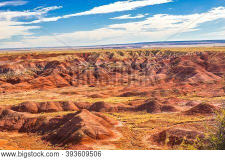 Multi Colors Of Erosion In Arizona's Painted Desert