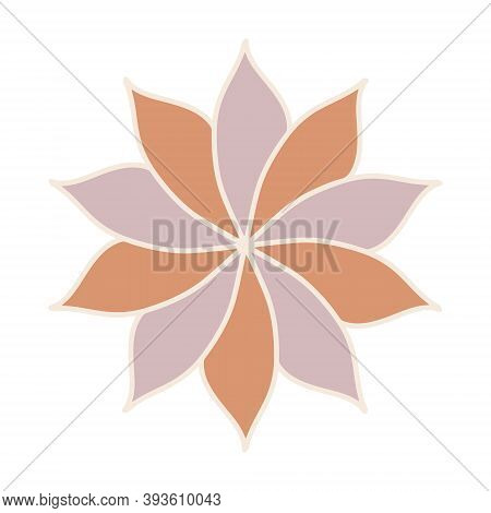Vector Illustration Of Star Anise On White Isolated.  Decorative Design Element. Logo For A And Shop
