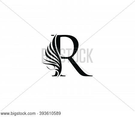 Classic R Luxury Logo Icon, Vintage R Letter Design.