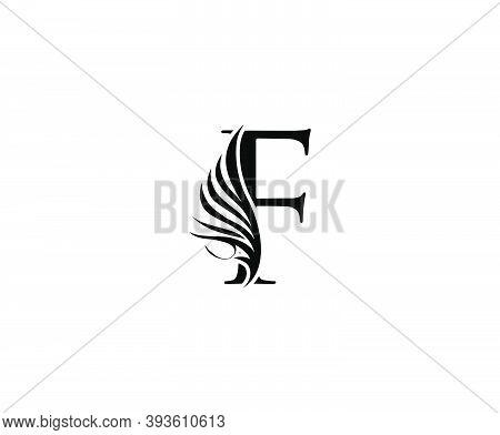 Classic F Luxury Logo Icon, Vintage F Letter Design.
