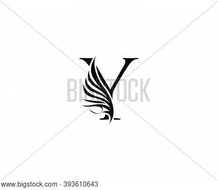 Classic Y Luxury Logo Icon, Vintage Y Letter Design.