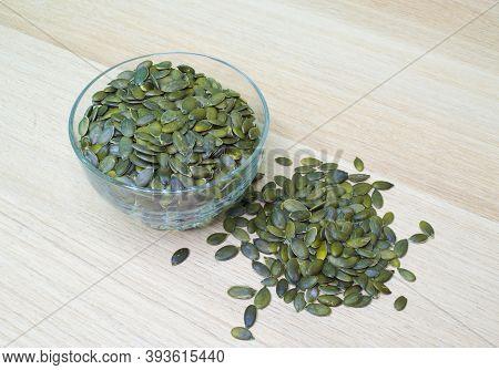 Pumpkin Seeds - Green, Edible Seed Of A Pumpkin After Removing The Husk