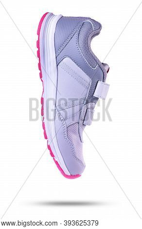 Running And Fashion Sneaker Shoes Isolated On White Background.
