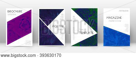 Abstract Cover. Astonishing Design Template. Suminagashi Marble Triangle Poster. Astonishing Trendy