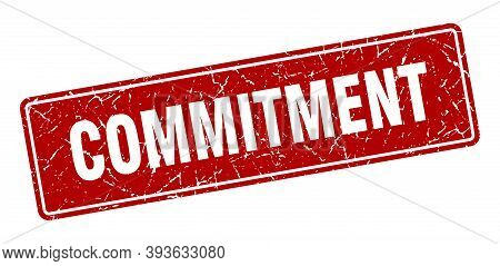 Commitment Stamp. Commitment Vintage Red Label. Sign