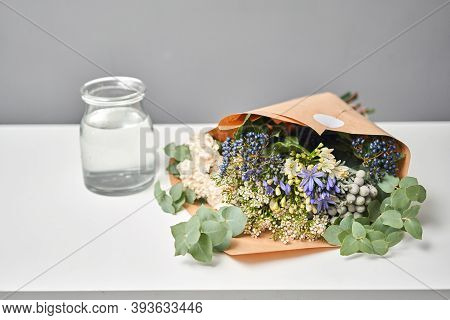 Bouquet 009. Flowers Bunch, Set For Home. Fresh Cut Flowers For Decoration Home. European Floral Sho