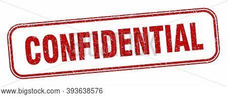 Confidential Stamp. Confidential Square Grunge Sign. Label
