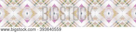 Ikat Textile. Seamless Tie Dye Illustration. Ethnic African Print. Abstract Kaleidoscope Print. Past