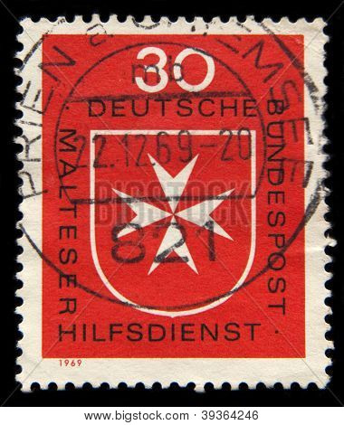 Maltese Cross Post Stamp