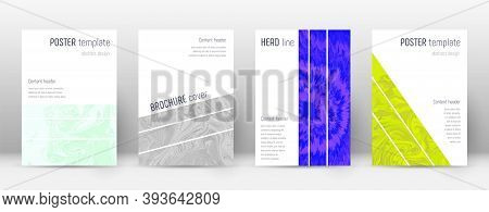 Abstract Cover. Alluring Design Template. Suminagashi Marble Geometric Poster. Alluring Trendy Abstr