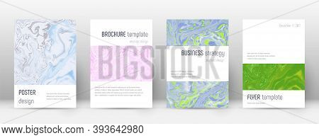 Abstract Cover. Awesome Design Template. Suminagashi Marble Minimalistic Poster. Awesome Trendy Abst
