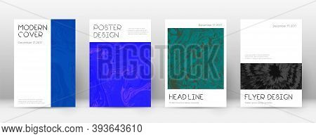 Abstract Cover. Popular Design Template. Suminagashi Marble Minimal Poster. Popular Trendy Abstract