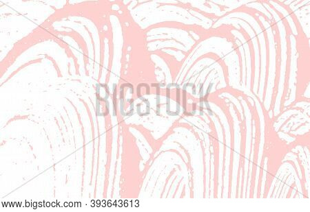 Grunge Texture. Distress Pink Rough Trace. Fabulous Background. Noise Dirty Grunge Texture. Ideal Ar