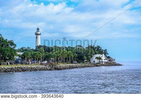 St. Simons, Georgia -november 1, 2020: St Simons Island, Georgia Is The Most Family Friendly Of All