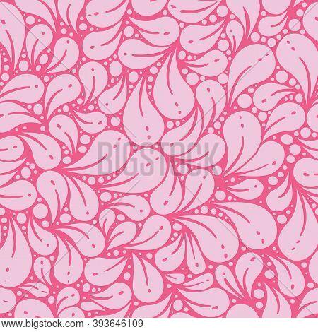 Pink Falling Petals Tonal Repeat Vector Pattern