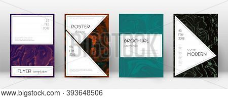Abstract Cover. Superb Design Template. Suminagashi Marble Stylish Poster. Superb Trendy Abstract Co