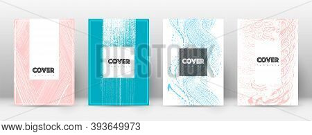 Cover Page Design Template. Hipster Brochure Layout. Brilliant Trendy Abstract Cover Page. Pink And