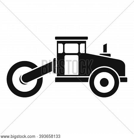 Asphalt Road Roller Icon. Simple Illustration Of Asphalt Road Roller Vector Icon For Web Design Isol