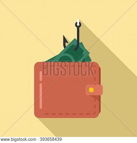 Digital Wallet Fraud Icon. Flat Illustration Of Digital Wallet Fraud Vector Icon For Web Design