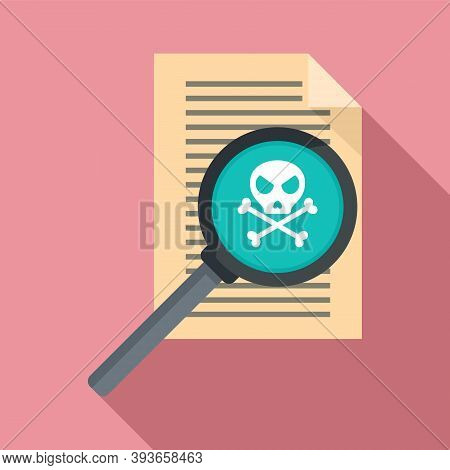 Fraud Personal Paper Icon. Flat Illustration Of Fraud Personal Paper Vector Icon For Web Design