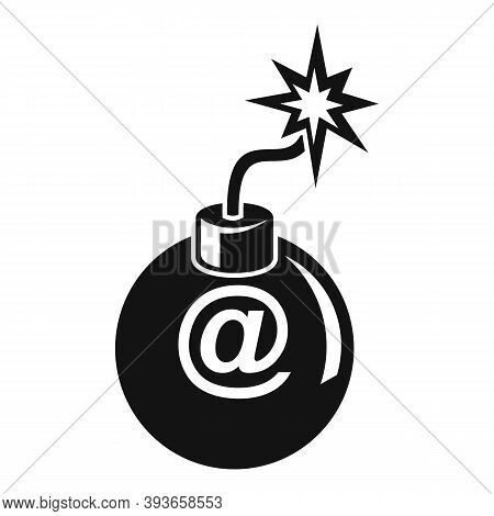 Email Fraud Bomb Icon. Simple Illustration Of Email Fraud Bomb Vector Icon For Web Design Isolated O