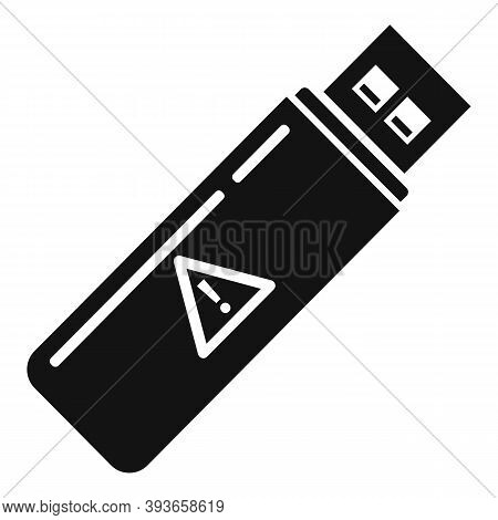 Fraud Usb Flash Icon. Simple Illustration Of Fraud Usb Flash Vector Icon For Web Design Isolated On