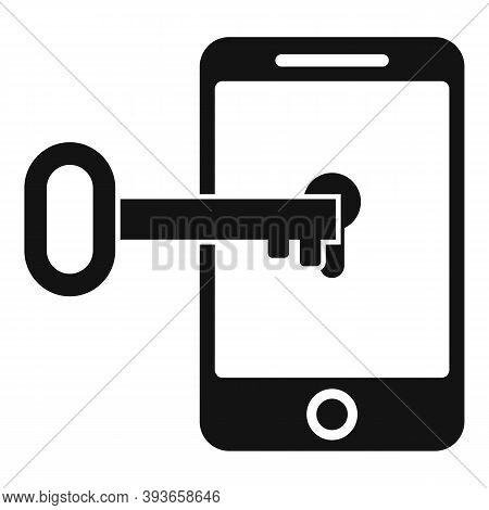Fraud Locked Phone Icon. Simple Illustration Of Fraud Locked Phone Vector Icon For Web Design Isolat