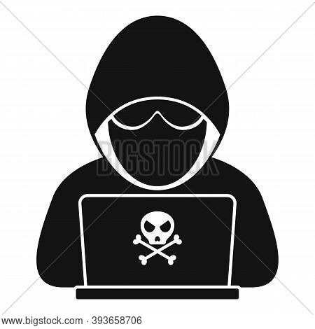 Modern Hacker Icon. Simple Illustration Of Modern Hacker Vector Icon For Web Design Isolated On Whit