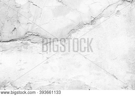 The Texture Of The Bare Concrete Plaster Wall. Concrete Wall Weathered White, White Concrete Wall Te