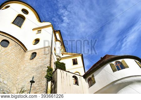 Fussen ,bavaria, Germany , November 03, 2020, Abbey Or St. Mang Abbey Kloster Sankt Mang Is A Former