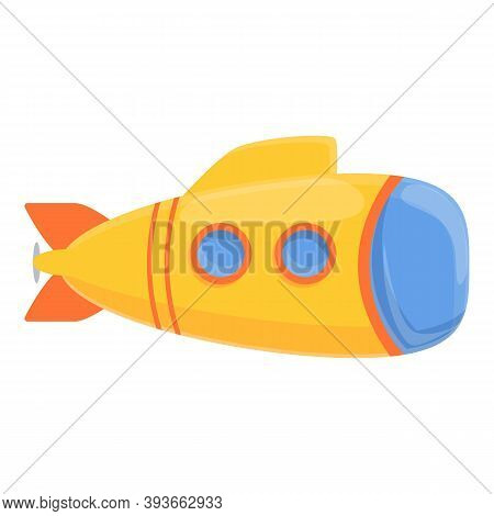 Defence Bathyscaphe Icon. Cartoon Of Defence Bathyscaphe Vector Icon For Web Design Isolated On Whit