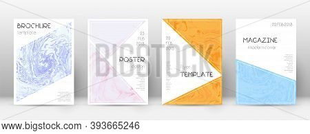 Abstract Cover. Unequaled Design Template. Suminagashi Marble Triangle Poster. Unequaled Trendy Abst