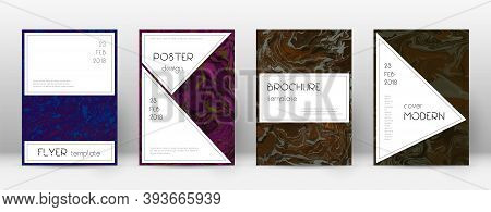 Abstract Cover. Astonishing Design Template. Suminagashi Marble Stylish Poster. Astonishing Trendy A