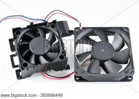 Cooling Fan, Low-voltage, Plastic Housing, Black Color Two Pieces