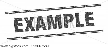 Example Stamp. Example Label. Square Grunge Sign