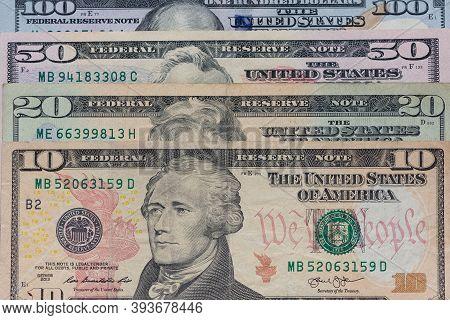 $100 Bill, 100 Dollar, 100 Dollars, 20 Dollars, 50 Dollars, American, Background, Bank, Banking, Ban